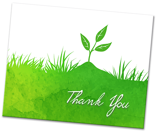 Thank you card for your landscaping clients